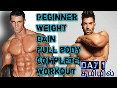 beginner weight gain complete full body workout in tamil