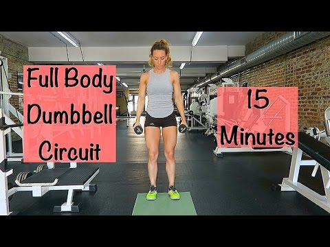 quick dumbbell workout  fast full body workout  online
