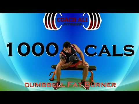 1000 calories dumbbell total body toning  weight loss